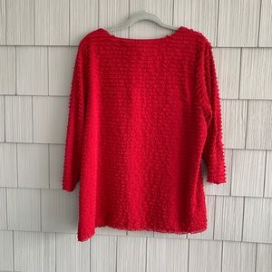 Coldwater Creek Tops - Coldwater Creek Red Boat Neck Top